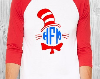Dr. Seuss teacher baseball tshirt
