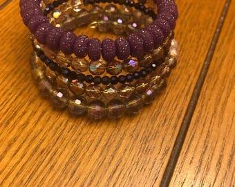 Beautiful purple beaded bracelet