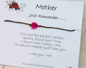 Mothers Day Wish Bracelet,Wish Bracelet,Friendship Bracelet, String Bracelet, Cord Bracelet, Mum Wish Bracelet,Gift for Mum, Gift for Mother