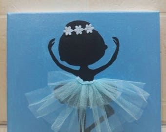 decor ballerina, children's room decor, gift, present, ballerina, picture