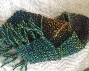 Fringe scarf multi color