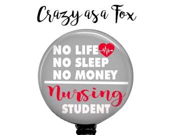 Nursing Student Retractable Badge Holder, Badge Reel, Lanyard, Stethoscope ID Tag, Nurse, RN, Nursing Student Gift