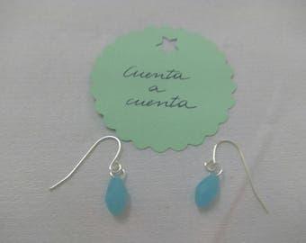 Turquoise earrings, teardrop earrings, blue earrings, fashion earrings, original earrings, stylish earrings, fashion