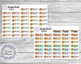 Basketball Practice/Game - Planner Stickers