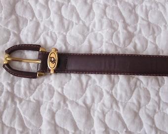 CHRISTIAN DIOR Vintage Leather Belt Size M