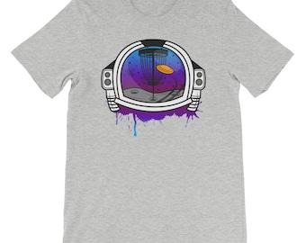 Cool Retro Disc Golf Spaceman Shirt