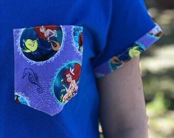Little Mermaid Pocket Shirt