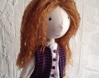 Art doll.Textile doll.Handmade doll.