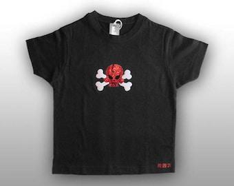 T-shirt Miniskull red sparkle