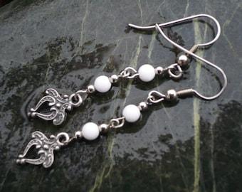 White Onyx Earrings.