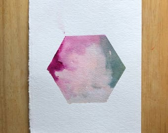 Hexagon Watercolor Prints