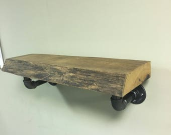 Rustic live edge shelf