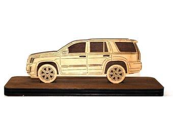 Wood Car Figurine for Cadillac Escalade IV 2014+
