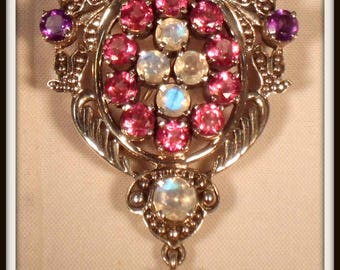 Nicky Butler Multigemstone Marquise Sterling Silver Pin/Pendant