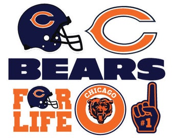 Chicago Bears Nfl  SVG PNG DXF File football svg files, cricut, silhouette cut file  Vector Cut File