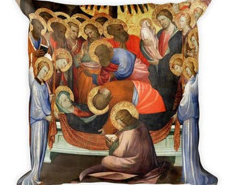 Christian Pillow - Dormition of the Virgin icon - christian icons - religious art - christian art - christian icon art