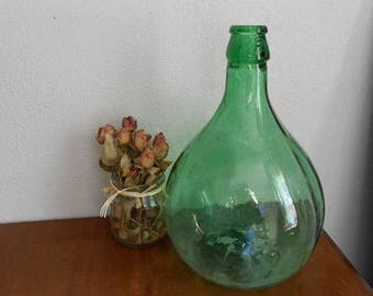 Italian glass, wine holder, glass vase, small size