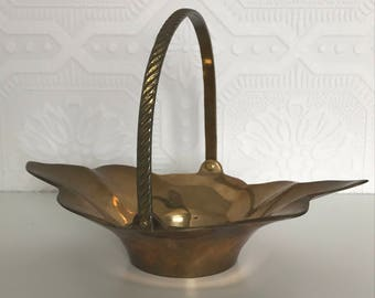 Vintage Brass Jewellery Ring Dish Tealight