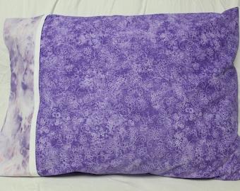 Purple Tie Dye Handmade Pillowcase
