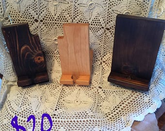 Handmade Wood Cell Phone/iPad stand