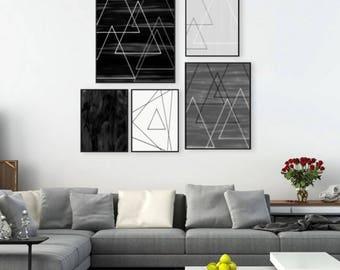 print with geometric figures