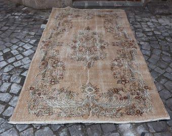 faded colored oushak rug homedecor rug turkisk matta turkish rug 5.1 x 8.3 ft. Free Shipping aztec ethnic rug organic wool floor rug MB200