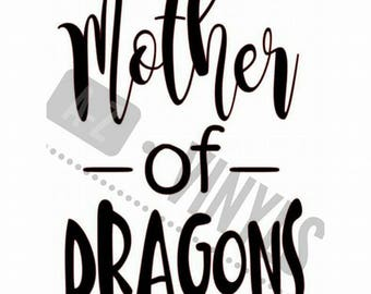 "Mother of Dragons Decal 6"" x 4"""