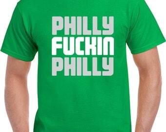 Philadelphia Football Team Jason Kelce Philly F'n Philly  T Shirt