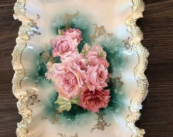 RS Prussia scalloped Dresser tray