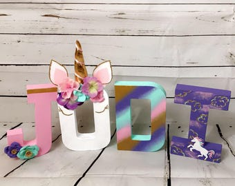 Custom unicorn letters