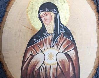 St. Clare Icon Print