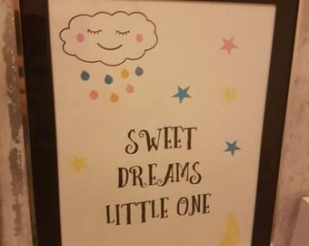 Child's bedroom print