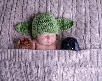 Yoda Hat   Star Wars   Newborn Photo Prop