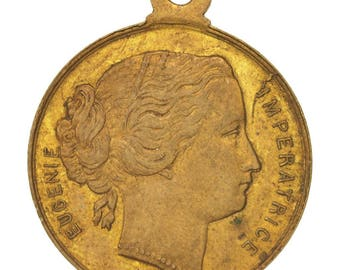 france medal second french empire 1867 au(50-53) copper