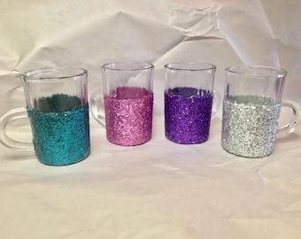 Glitter Mug Shot Glasses (set of 4)