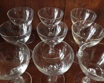 9 vintage crystal Rosenthal sherry glasses