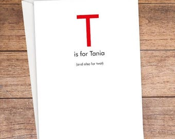 T is For... Card