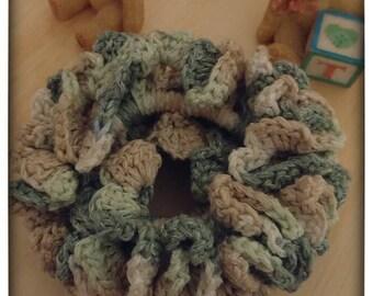 Handmade crochet scrunchie