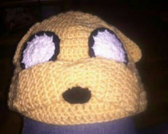 Crochet Beanie Jake the Dog from Adventure Time