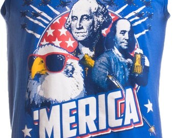 MERICA | Epic USA Patriotic American Party Unisex 'Merica Tank Top