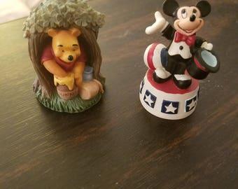 Disney ceramic thimble figurines