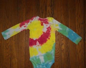 Sunburst Tie Dye Onesie
