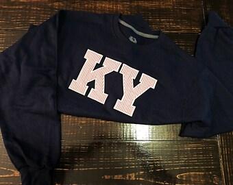 Appliqued' KY Crewneck Sweatshirt