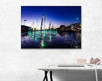 Southend on Sea Esplanande Fountains. Photo Wall Art Print
