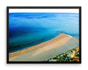 Ocean Photo Paper Poster, Beach Decor, Ocean Print, Australian Beach Art, Busselton Drone Photo