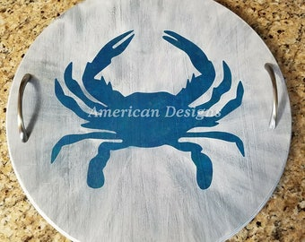 Wooden Crab Platter/tray