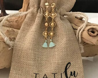 Tiny Tassel Dangling Earrings