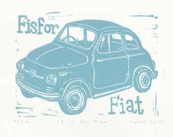 F is for Fiat from my Classic Car/Motorcycle Alphabet