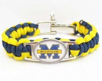 Michigan Wolverines Paracord Bracelet