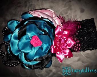 RoseBlue Baby Lace Headband